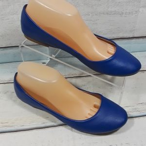 Women's Blue Ballets Flats Slip On Shoe Size 8.5 M